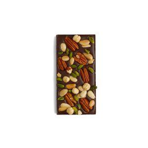 Tablette chocolat noir fruits secs