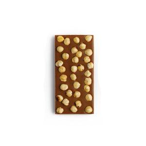Tablette chocolat lait noisettes entières
