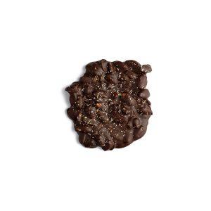 Tablette ronde chocolat noir, fève Tonka et poivre de Sichuan