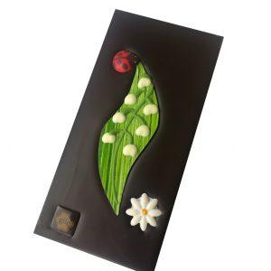 Tablette muguet chocolat noir pure origine Tanzanie 75%