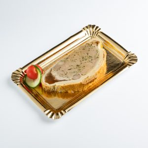 tranche de pâté de viande en gelée
