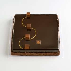 tarte carrée au chocolat 6 personnes