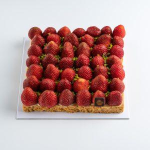 tarte carrée fraises 5 personnes